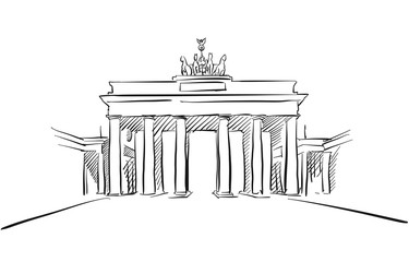 Berlin Brandenburger Gate Greeting Card Sketch