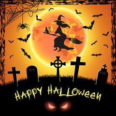 Spooky card for Halloween.