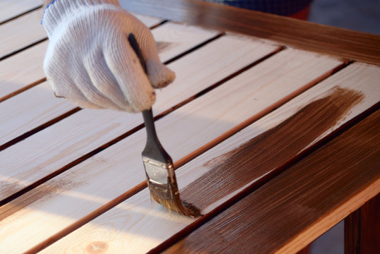 Painting wooden worktops