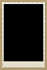 Vintage Blank Photography Frame