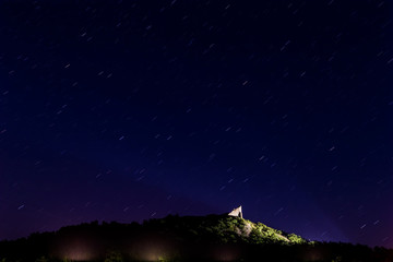 Nice night sky over the csatle