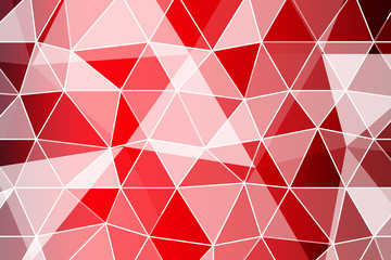red gradient polygonal background with small triangle. vector illustration