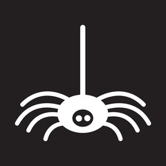 flat icon in black and white style spider insect