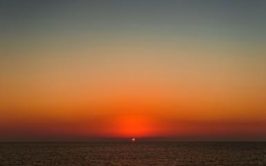 India, Goa.Sunset in the Arabian Sea.