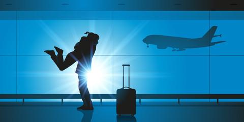 Aéroport - Amoureux - retrouvailles