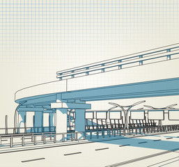 architectural drawing express way