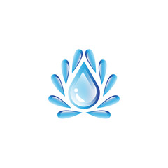 Water Drop Icon - Isolated On White Background. Vector Illustration, Graphic Design. For Web, Websites, Print Material