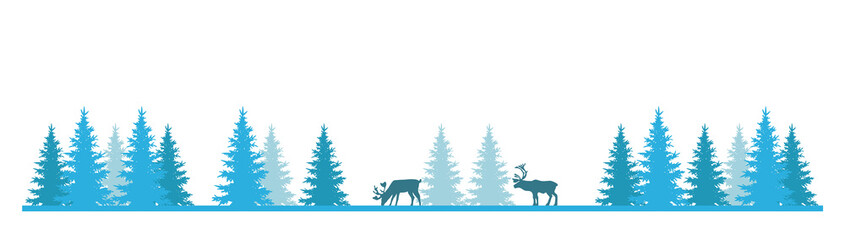 Reindeers In The Forest