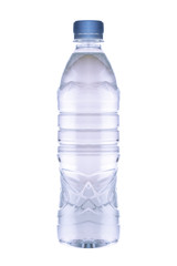 One Bottle of water  Isolated on a white background.