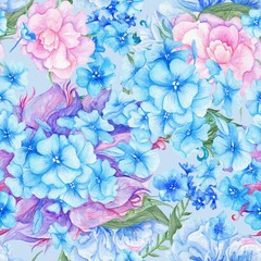 Shabby Chic Vintage Romantic Floral Pattern