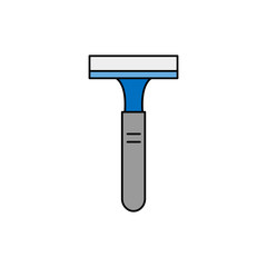shaving razor blue icon