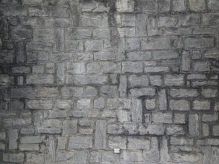 Close up of a manmade wall with rectangular stones