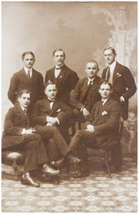 old photo of men in suits