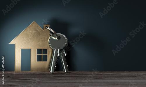 3d objekt haus mit schl ssel geschenk zum einzug ins. Black Bedroom Furniture Sets. Home Design Ideas