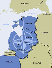 NATO air police policing mission baltic states map
