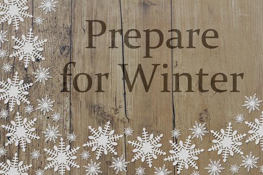 Prepare for Winter Message
