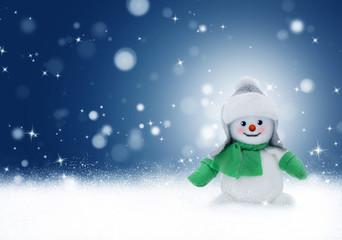 Bonhomme de neige arrière-plan Noël et Nouvel an