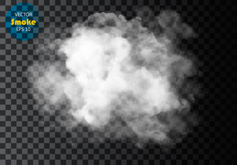 Wall Murals Smoke Fog or smoke isolated transparent special effect. White vector cloudiness, mist or smog background. Vector illustration
