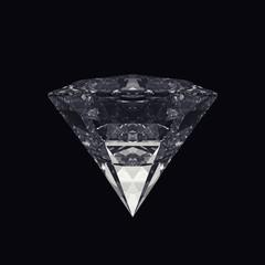 Diamond isolated on black background.