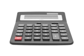 Big black calculator isolated