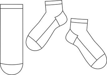 krótkie skarpety - szablon