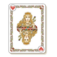 Queen of Hearts. Playing card.