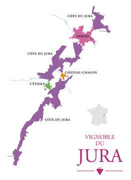 Carte du Vignoble du Jura