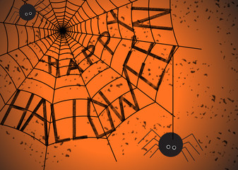 Halloween quote with on a spider web.