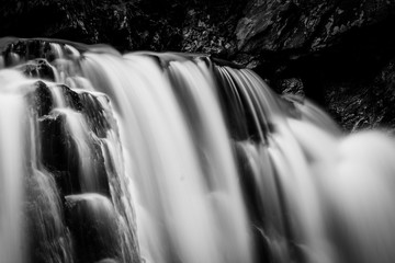 Details of Kilgore Falls, at Rocks State Park, Maryland.