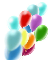 Isolated image of balloons close-up