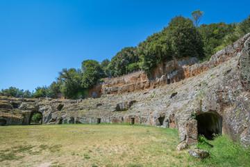 Roman amphitheatre in Sutri, Viterbo Province, Lazio (Italy)