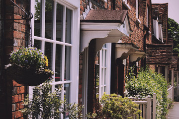BEACONSFIELD, ENGLAND - JUNE 2016: Row of terraced houses in the