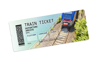 Train ticket concept image