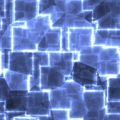 Blue square abstract light shape cubes background