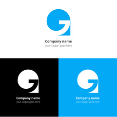 G logo, icon flat and vector design template.