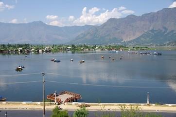 Lake in Srinagar in Kashmir, India