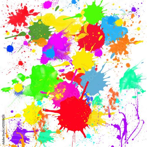Manchas de pintura multicolor fotos de archivo e for Pintura ligera de color topo