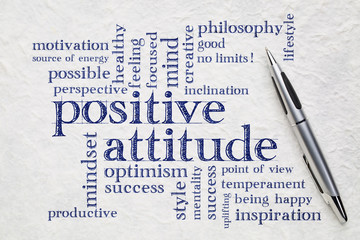 positive attitude word cloud