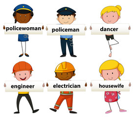 People with different occupations