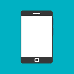 smartphone black display graphic isolated vector illustration eps 10