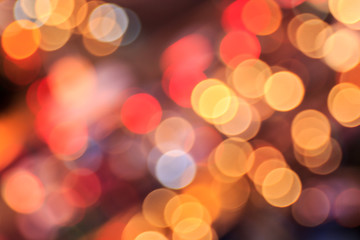 Abstract photo of Night city street lights bokeh background.