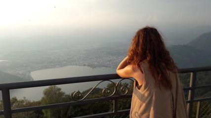 Malinconia - Lugano vista dal balcone d'Italia