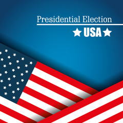 flag usa presidential election graphic vector illustration eps 10