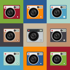 Set of Retro cameras