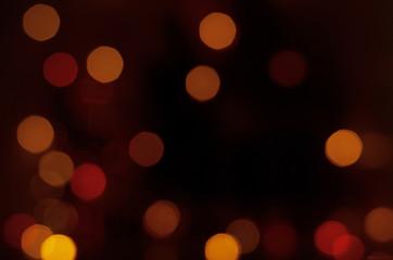 Orange color Hexagonal bokeh lights backgrounds textures