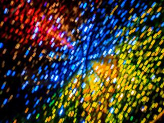 Abstract colorful lights bokeh
