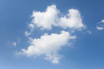 Natural background of Blue sky and cloud