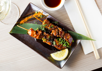 japanise grilled chicken barbecue