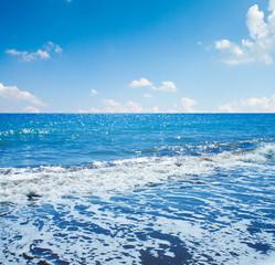 Sea view from tropical beach