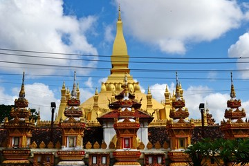 """Phra That Luang : That Luang is officially name Phra Chedi Lokajulamani,which translates to """"World Precious Sacred Stupa"""""""